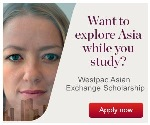 Westpac Asian Exchange Scholarship